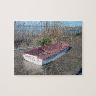 Old Rustic Row Boat Jigsaw Puzzle