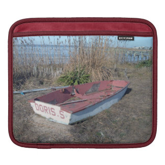 Old Rustic Row Boat Sleeve For iPads