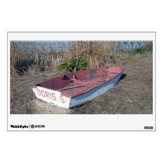 Old Rustic Row Boat Wall Decal
