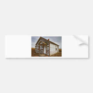 Old Rustic Rural Country Farm House Bumper Sticker