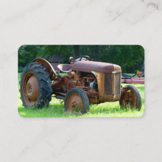 Old Rustic Tractor Business Cards