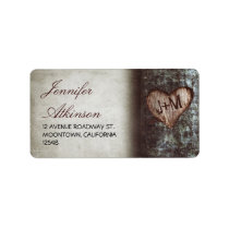 old rustic tree wedding address labels