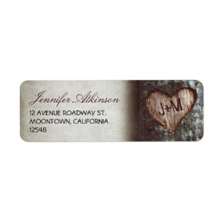 Old Rustic Tree Wedding Return Address Labels at Zazzle