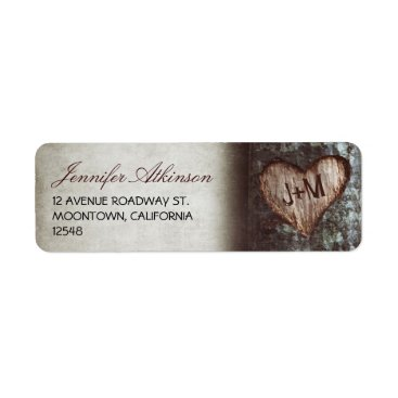 jinaiji old rustic tree wedding return address labels