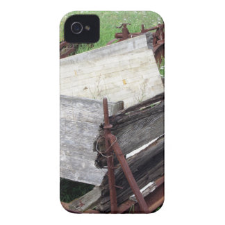 Old rusty cart iPhone 4 cover