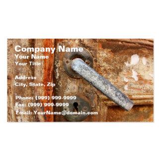 Old Rusty Door Business Card Templates