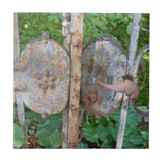 Old rusty gate ceramic tile