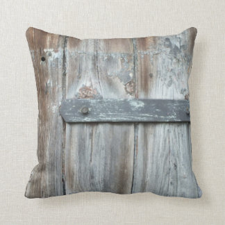 Old rusty latch on old wood pillows
