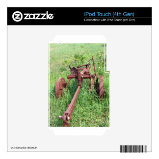 Old rusty plow iPod touch 4G decal