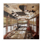 Old Rusty School Bus In Motion HDR Tile