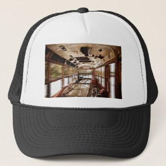 Old Rusty School Bus In Motion HDR Trucker Hat