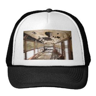 Old Rusty School Bus In Motion Trucker Hat