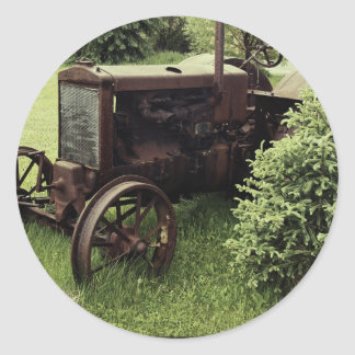 Old Rusty Tractor Classic Round Sticker