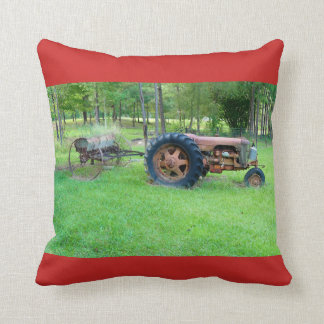 Old Rusty Tractor Throw Pillow