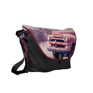 Old rusty truck messenger bag