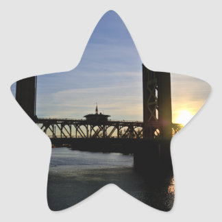 Old Sacramento Bridge Star Sticker