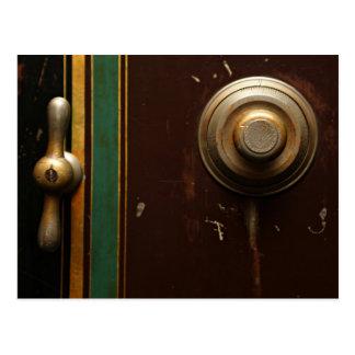 old safety door lock combination postcard