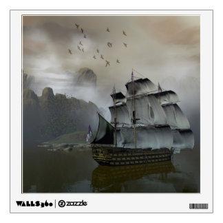 Old Sail Ship Wall Decal