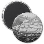 Old Sailing Ship Fridge Magnet