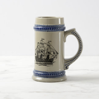 Old Sailing Ship Stein Coffee Mugs