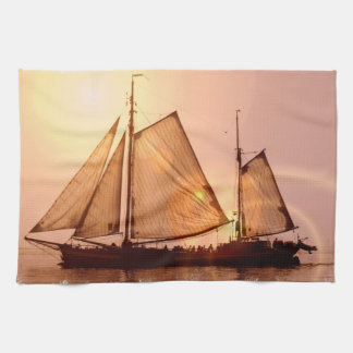 Old Sailing Ships Kitchen Towel