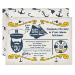 Old Sailor Nautical Baby Shower Invitations
