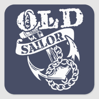 Old Sailor Square Stickers