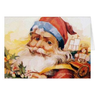 OLD SAINT NICK GREETING CARD