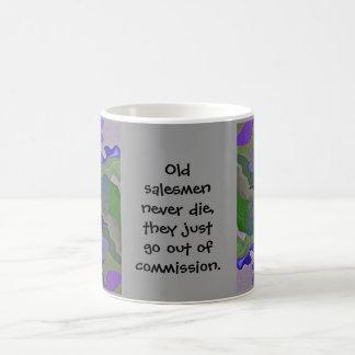 old salesmen never die coffee mug