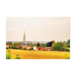 Old Salisbury Cathedral, Salisbury, Wiltshire, UK Canvas Print