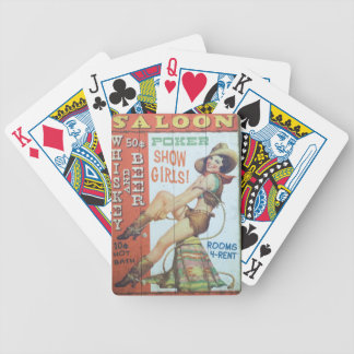 Old Saloon Sign Bicycle Playing Cards
