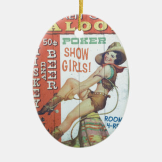Old Saloon Sign Ceramic Ornament