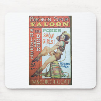 Old Saloon Sign Mouse Pad
