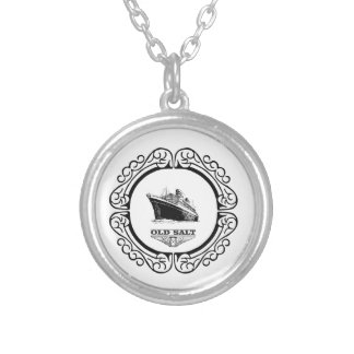 old salt quotes silver plated necklace