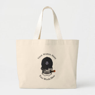 Old Salt Skull Custom Jumbo Tote Bag