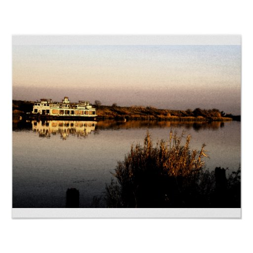 Old San Diego Ferry in Fresco Print
