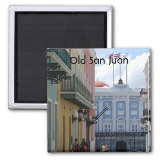 Old San Juan 2 Inch Square Magnet