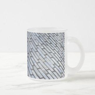 Old San Juan Cobblestone 10 Oz Frosted Glass Coffee Mug