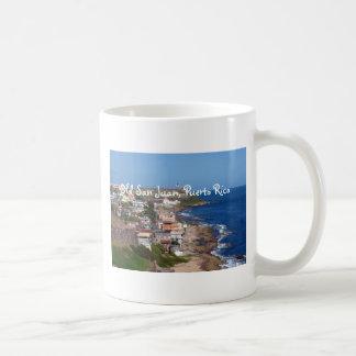 Old San Juan, Puerto Rico Coastline Classic White Coffee Mug