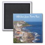 Old San Juan, Puerto Rico Coastline 2 Inch Square Magnet