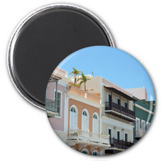 Old San Juan Puerto Rico 2 Inch Round Magnet