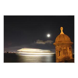 Old San Juan Puerto Rico Night Photo Art