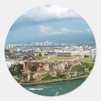 Old San Juan Round Sticker