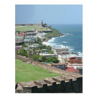 Old San Juan Shore Postcard