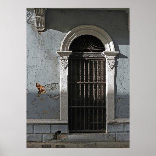 Old San Juan Stucco Doorway Photo Poster