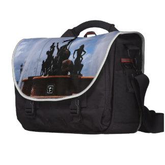 Old San Juan Water Fountain Laptop Commuter Bag