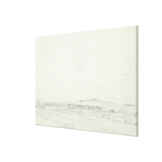 Old Sarum at Noon, 1829 (graphite on wove paper) Canvas Print