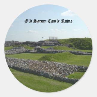 Old Sarum Castle Ruins Classic Round Sticker