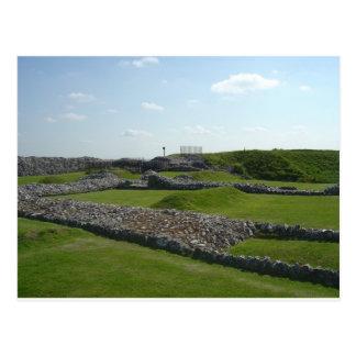 Old Sarum Castle Ruins Postcard