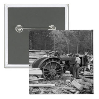 Old Sawmill Tractor, 1935 Pinback Buttons